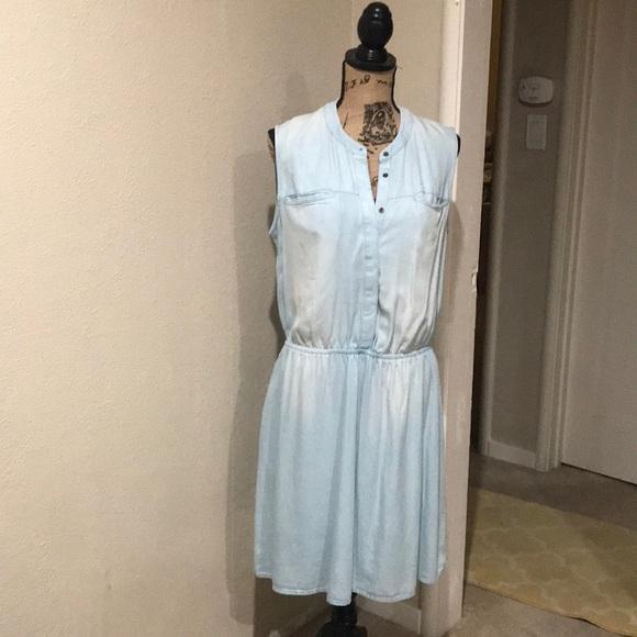 Merona Dresses & Skirts - White Washed Denim Dress NWOT